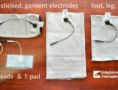 Elasticised silvered garment electrodes – hand, foot, arm, leg